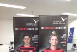 Banners for UWS & the Wanderers