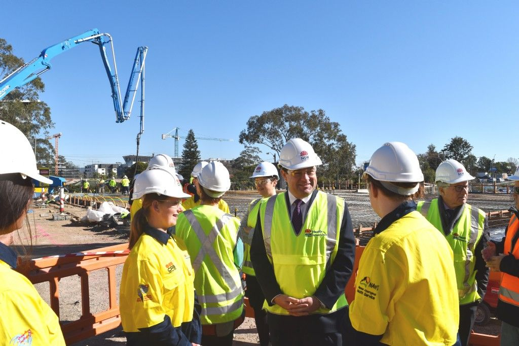 First Concrete Poured for New Nepean Hospital Car Park