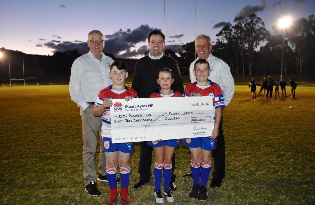 Support for Emu Plains Junior Rugby League Football Club