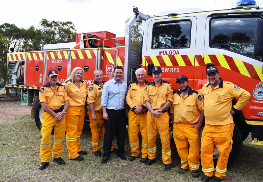 Minister for Emergency Services Visits Local RFS Volunteers and Staff at Cumberland