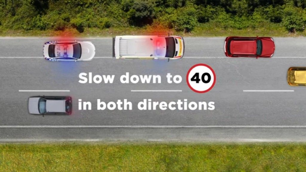 40km/h Around Stopped Emergency Vehicles