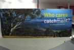 5.1x2.2m curved fabric wall by Clickmedia